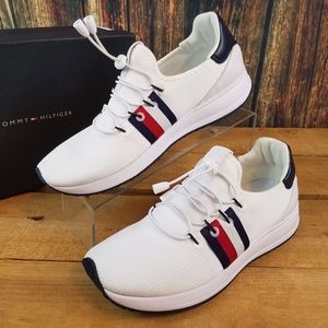 TOMMY HILFIGER RHENA STRIPED WHITE CASUAL SNEAKERS